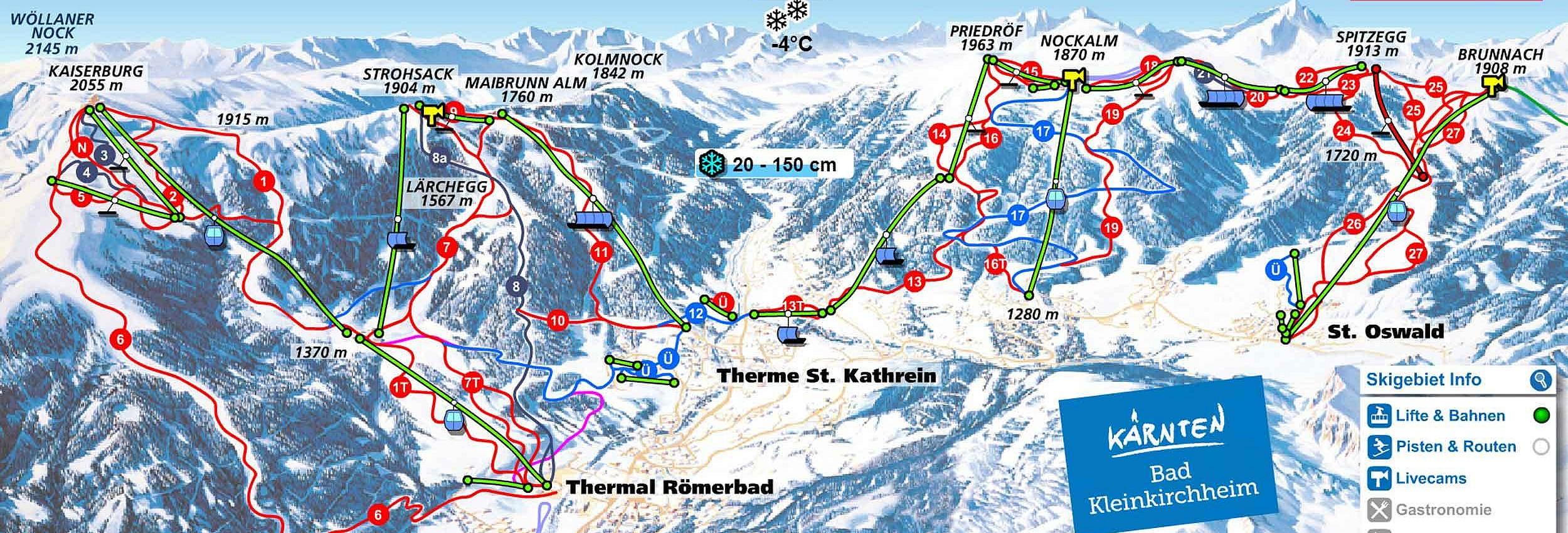 skiing & ski resorts in carinthia on lake millstatt ☆ family hotel