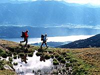 Wanderer auf der Millstätter Alpe