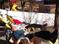 Relaxen im Schnee